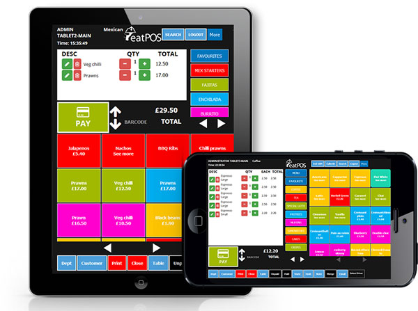 waiter pads for restaurants and bars integrated with EPOS systems
