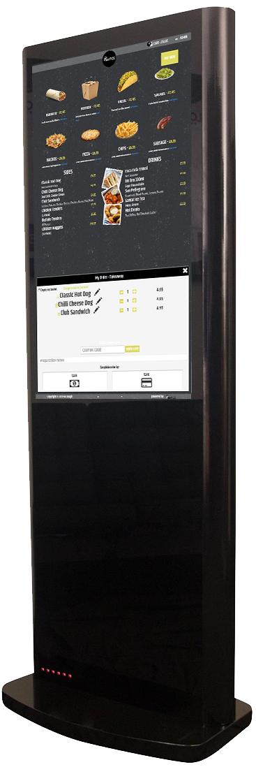 self service kiosk epos restaurant takeaway